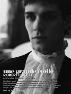 Magazine: Uomo Vogue - Photographer: Deborah Turbeville - Model: Roberto Bolle - Location: La Scala, Milan - Hair: Pier Giuseppe Moroni