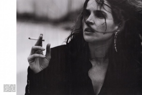 Magazine: Vogue Italia - Photographer: Michel Comte - Model: Julia Ormond - Location: Monaco - Hair: Pier Giuseppe Moroni