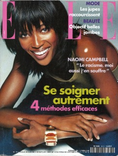 Magazine: French Elle Ph: A.Rau Model : Naomi Loc: Paris '00 Hair : Pier Giuseppe Moroni