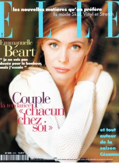 Magazine :french elle Model : Emanuelle Beart