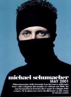 Michael Schumacher Uomo Vogue - Photo Michel Comte- hair: Pier Giuseppe Moroni