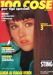 MY FIRST COVER Milano 1985 Hair: Pier Giuseppe Moroni