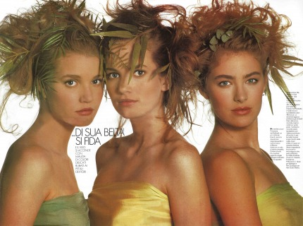 Magazine: Grazia International Photographer: Toscani Location Superstudio Milano 1988 Hair: Pier Giuseppe Moroni
