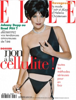 Magazine: French Elle Ph: Andrè Rau Model: Helena Christensen Loc: Paris'95 Hair: Pier Giuseppe Moroni