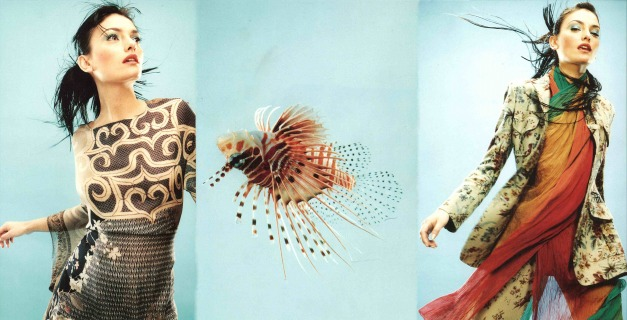 Adv: Etro Ph: Griffith Model :Laura Ponte Loc: Milano '96 Hair Pier Giuseppe Moroni