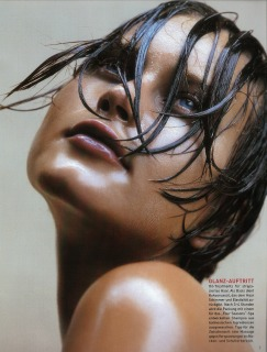 Magazine: German Vogue Ph: T. Gunadson Model : Natalia Loc: Bali '00 Hair Pier Giuseppe Moroni