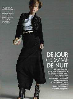 Magazine : France Elle Ph: Repoche Loc: Paris Hair Pier Giuseppe Moroni