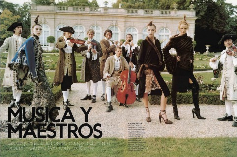 Magazine : Spanish Vogue Ph: Arthur Elgort Loc: Paris '02 Hair Pier GIuseppe Moroni