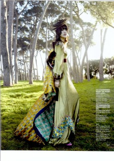 VOGUE CHINA  photo: Yelena Yemchuk Stylist  Anastasia Barbieri Hair : Pier Giuseppe Moroni Make up: Petros Petrohilos