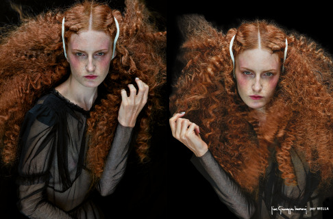 ADV: WELLA  Ph :Christophe Meimoon ,Make up : Arianna Campa,  Hair: Pier Giuseppe Moroni